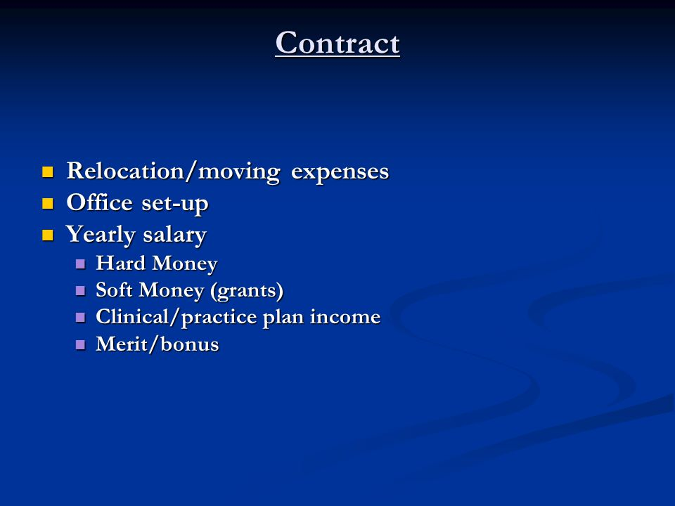 Contract Benefits Benefits Medical Medical Dental Dental Retirement Retirement Investment program Investment program Life insurance Life insurance Disability Disability Long-term care Long-term care Housing assistance Housing assistance Subsidy Subsidy Low/no interest loan Low/no interest loan Tuition waver/reimbursement for dependents Tuition waver/reimbursement for dependents