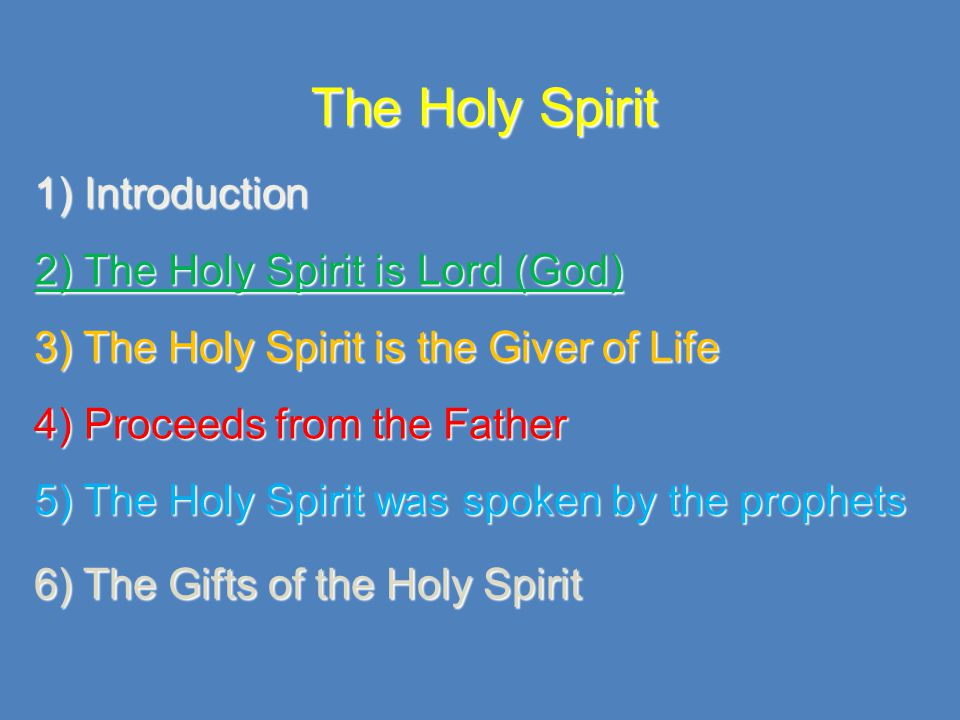 2) The Holy Spirit: God and Lord 2Thess 3:5; And may the Lord direct your hearts into the love of God and into the patience of Christ Acts 5:3-4; You have lied to the Holy Spirit…you have lied to God 2 Corinthians 3:17,18; Now the Lord is the Spirit, and where the Spirit of the Lord is, there is freedom.