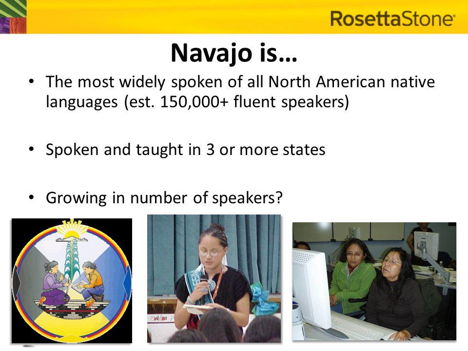 BUT… 1970 90% of Navajo BIA boarding school children spoke Navajo 1992 18% of Navajo preschoolers knew Navajo 2011 < 5% of Navajo school-aged children were fluent in Navajo