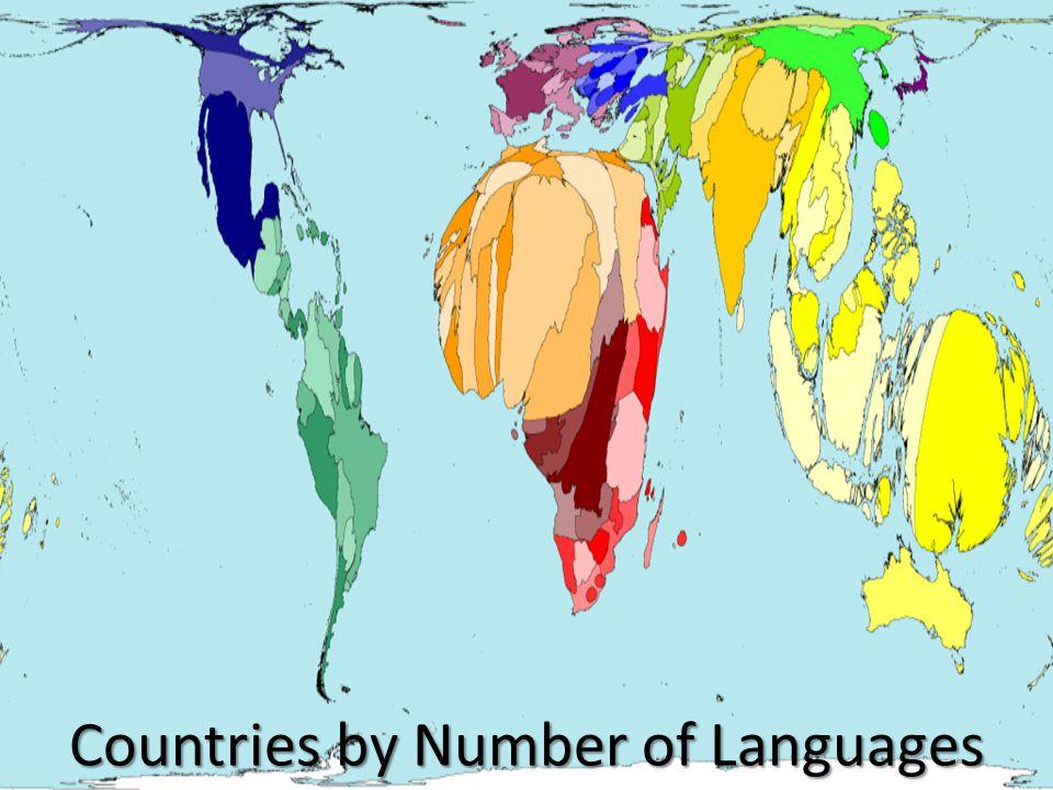 26 Smallest languages 3,586 Mid-sized languages 2,935 Biggest languages 83 8 million speakers 0.2% 1,200 million speakers 20.4% 4,500 million speakers 79.5%