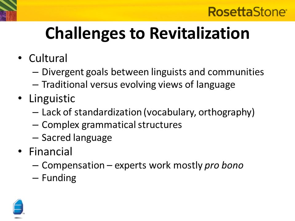 Language Choice Do language revitalization and other forms of development always have to be mutually exclusive.