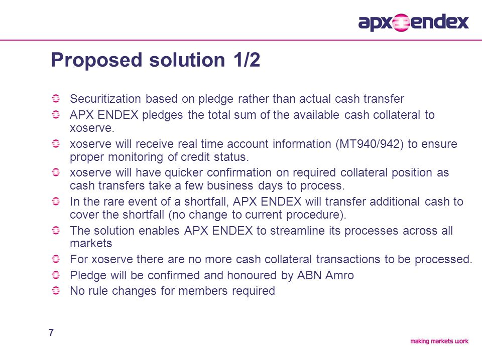 8 Proposed solution 2/2 Member AMember BMember CMember D ABN Account Eurolight trading Platform Position Account Member A Position Account Member B Position Account Member C Position Account Member D Automated bank upload 1:1 relationship between bank and position accounts Manual Entry xoserve Pledge Letter of Credit