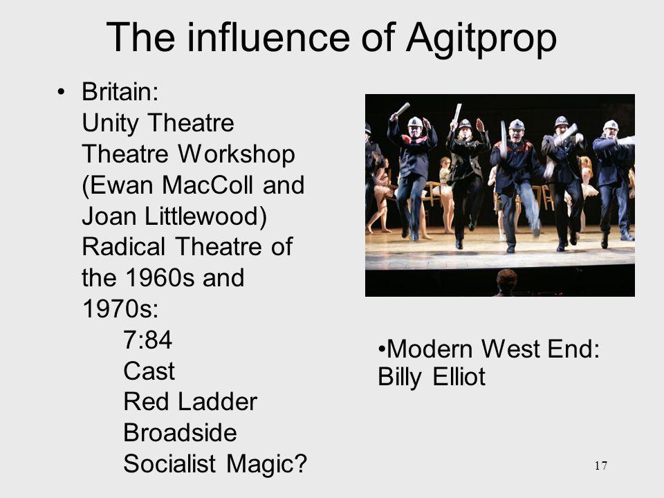 18 Influences 2 Via Brecht / Piscator etc.– much modern theatre African, S.
