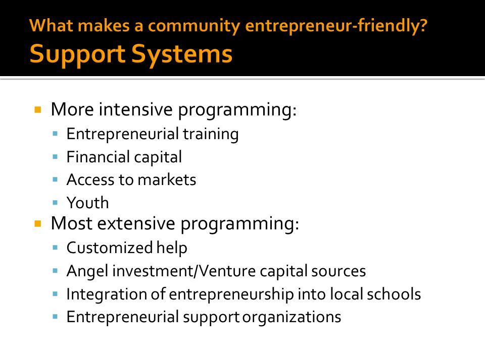  How ready is your community to be entrepreneurial?  Complete this worksheet: