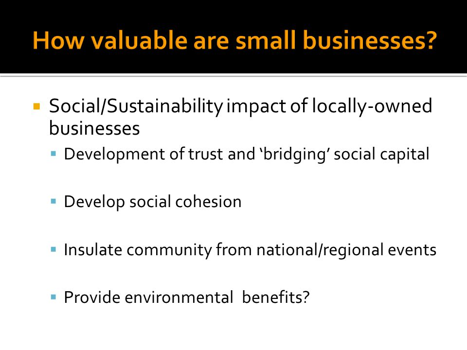  How do your communities identify small businesses.