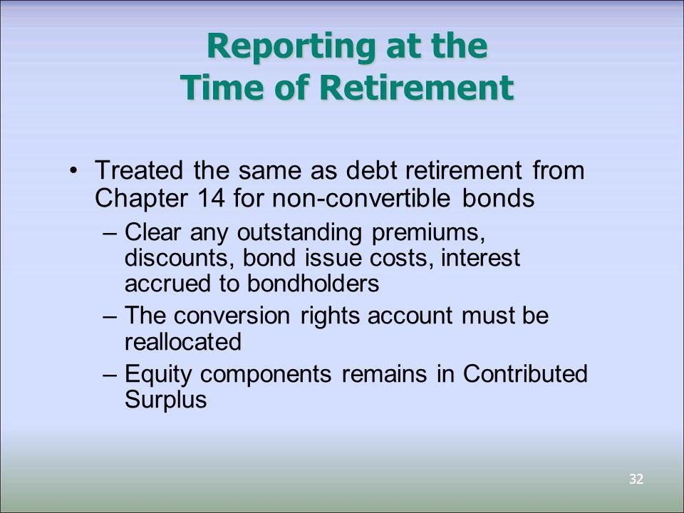 33 Convertible Debt — Example Assume that Bond Corp.
