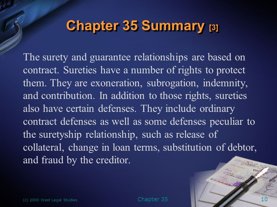 (c) 2000 West Legal Studies Chapter 3511 A letter of credit is an agreement that the issuer of the letter will pay drafts drawn on the issuer by the beneficiary of the letter.