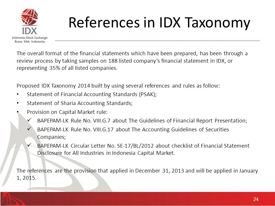 Mapping Sector & SubSector in IDX Taxonomy Entry Point 25
