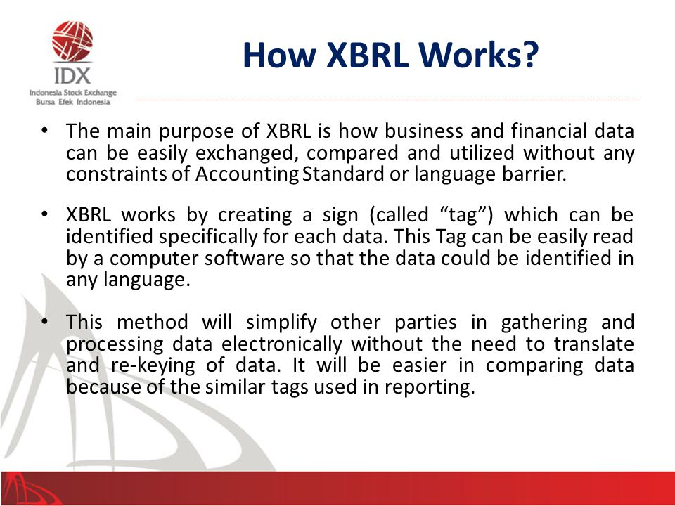 XBRL Tagging 6 How to make computer understand the message.