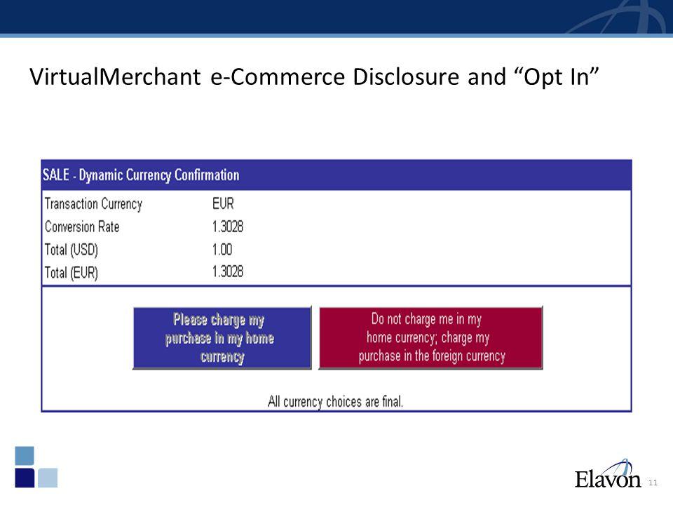 Merchant Statement with Rebate