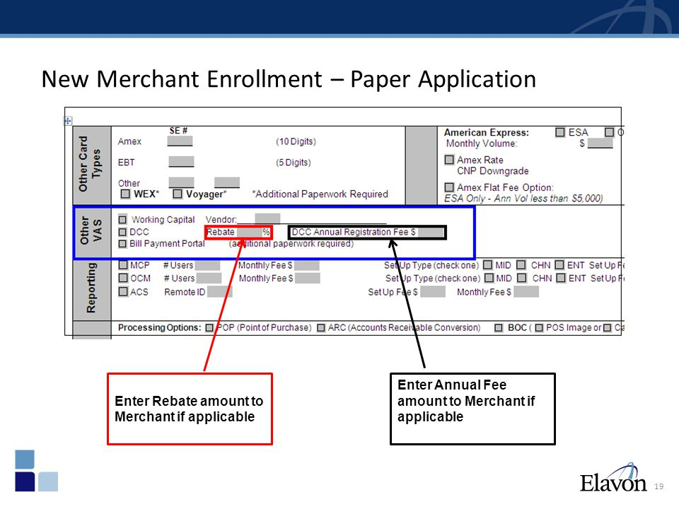 New Merchant Enrollment – MSP FAST - Step 1 20 On the Programming Instructions Tab, check the DCC Setup and click to open the dialogue box