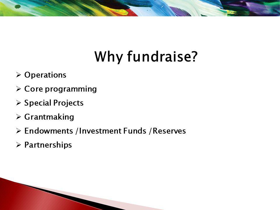 How do you do it? (Continued) Revenue Generation – Fundraising -Philanthropy