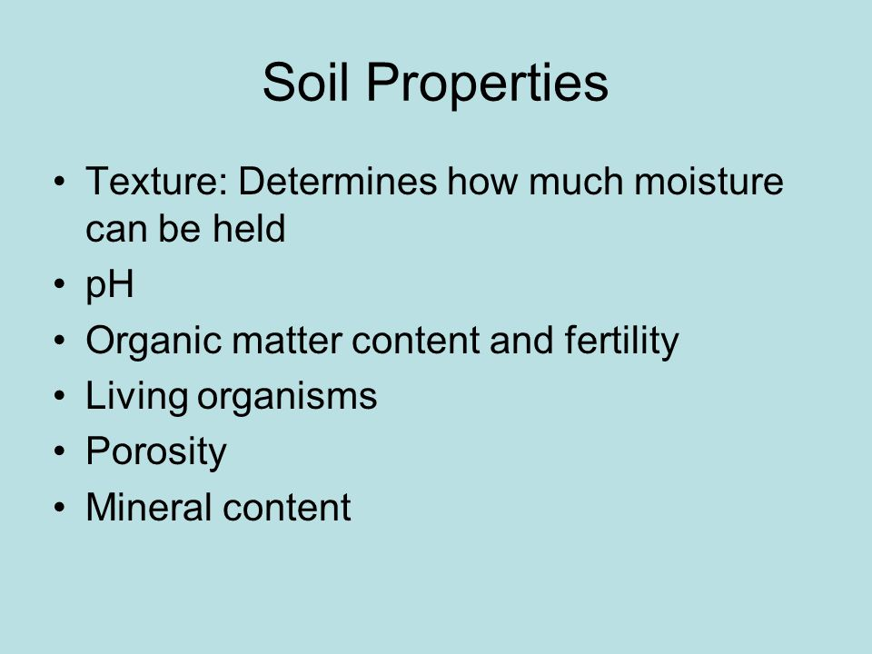 Soil Texture Percent Silt Sand Clay