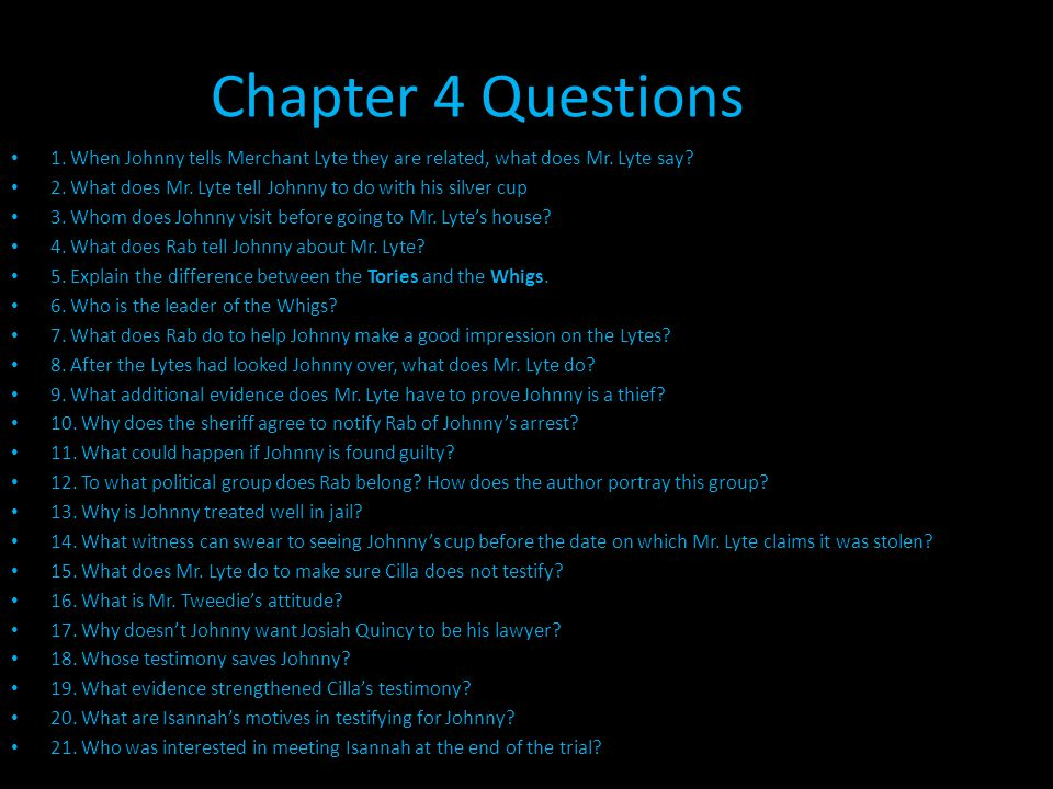 Chapter 5 Questions 1.What effect does the trial have on Mr.