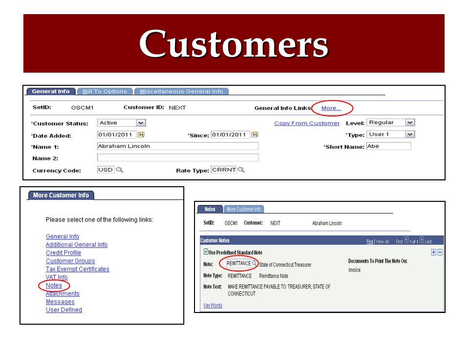 Customers Creating a Customer Customer Notes Updating an Address