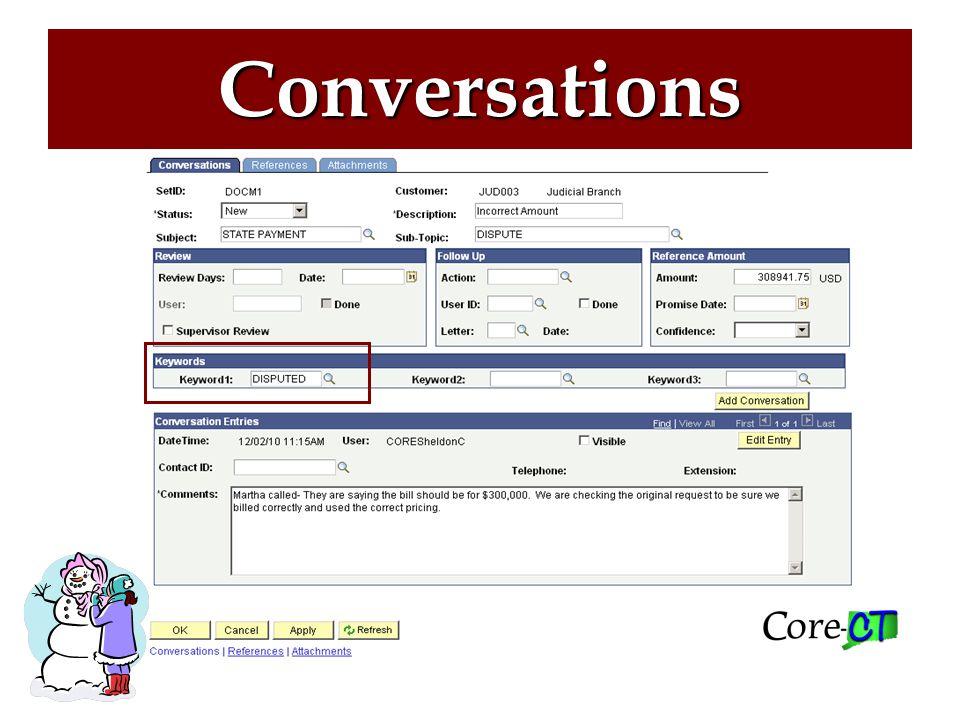 Conversations-Keyword Keyword Values