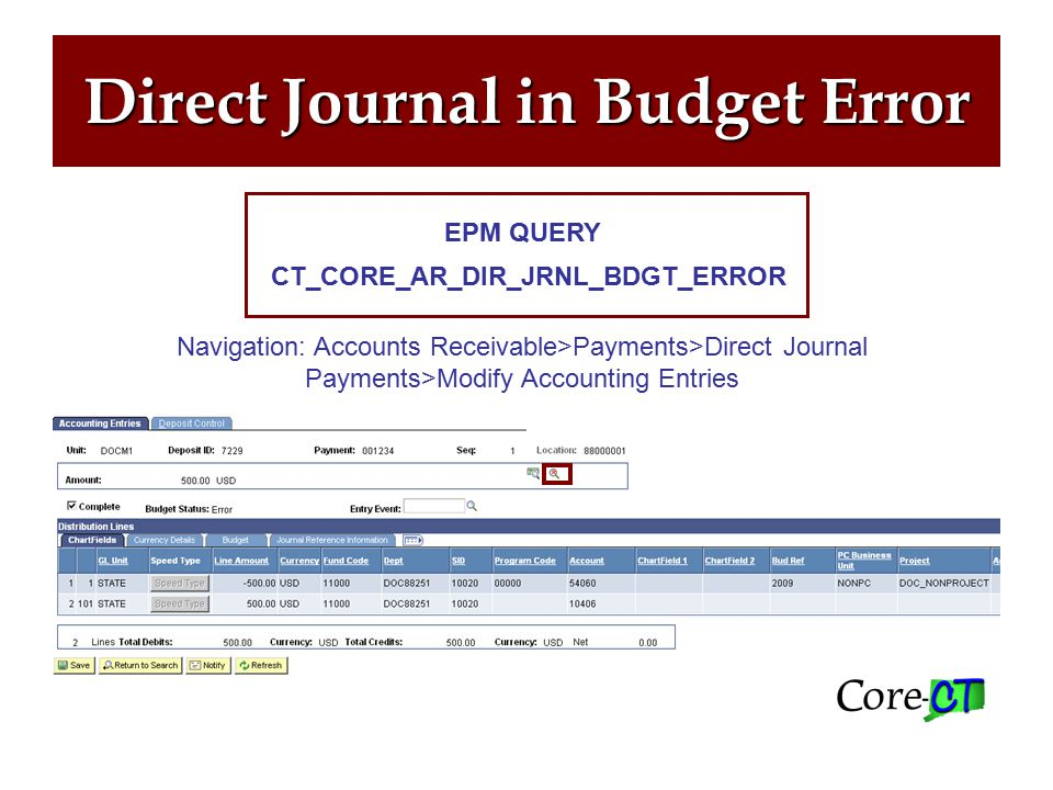 COP9 A COP9 is created by an agency's payroll department after a FULL refund of payroll expenditures.