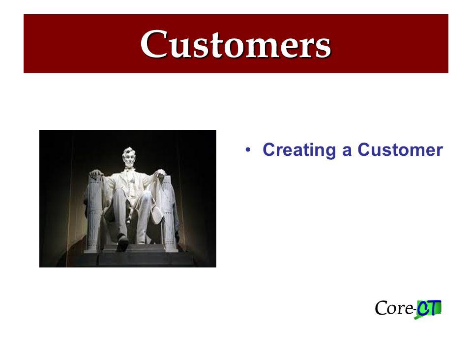 Customers NAVIGATION: Customers > Customer Information > General Information