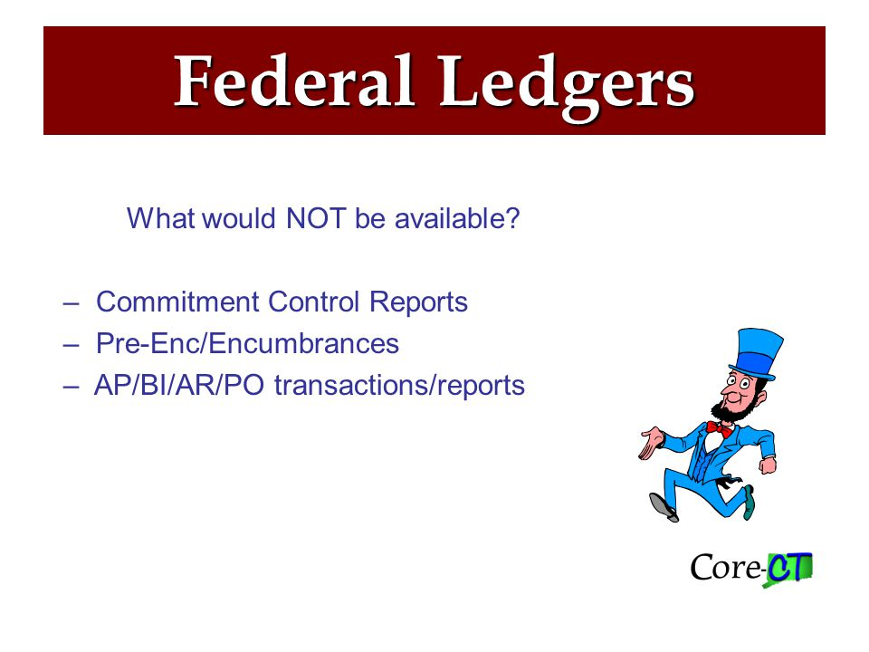 Federal Ledgers What's next.