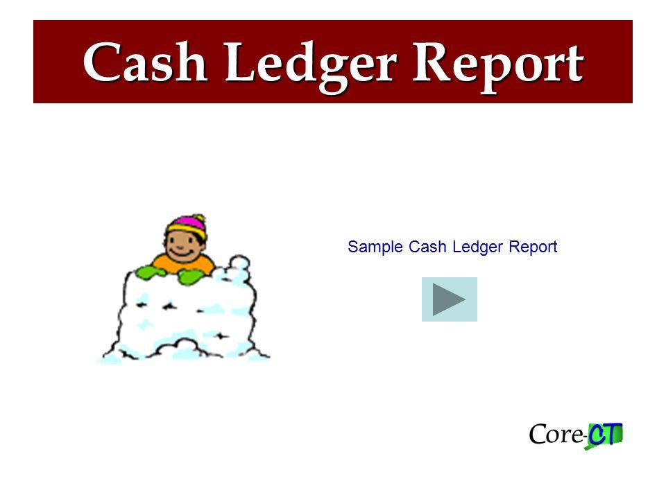 Cash Ledger Report