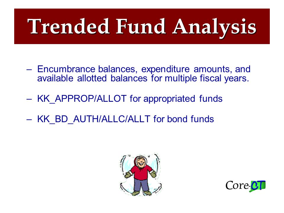 Trended Fund Analysis Commitment Control> Budget Reports> Trended Fund Analysis