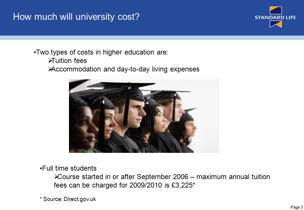 Page 4 Why Fund University Costs.