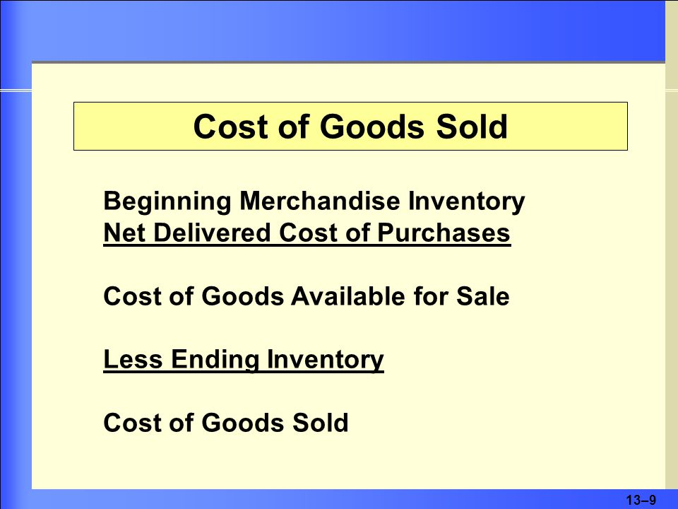 13–10 Merchandise Inventory is the one account that appears on both the income statement and the balance sheet.