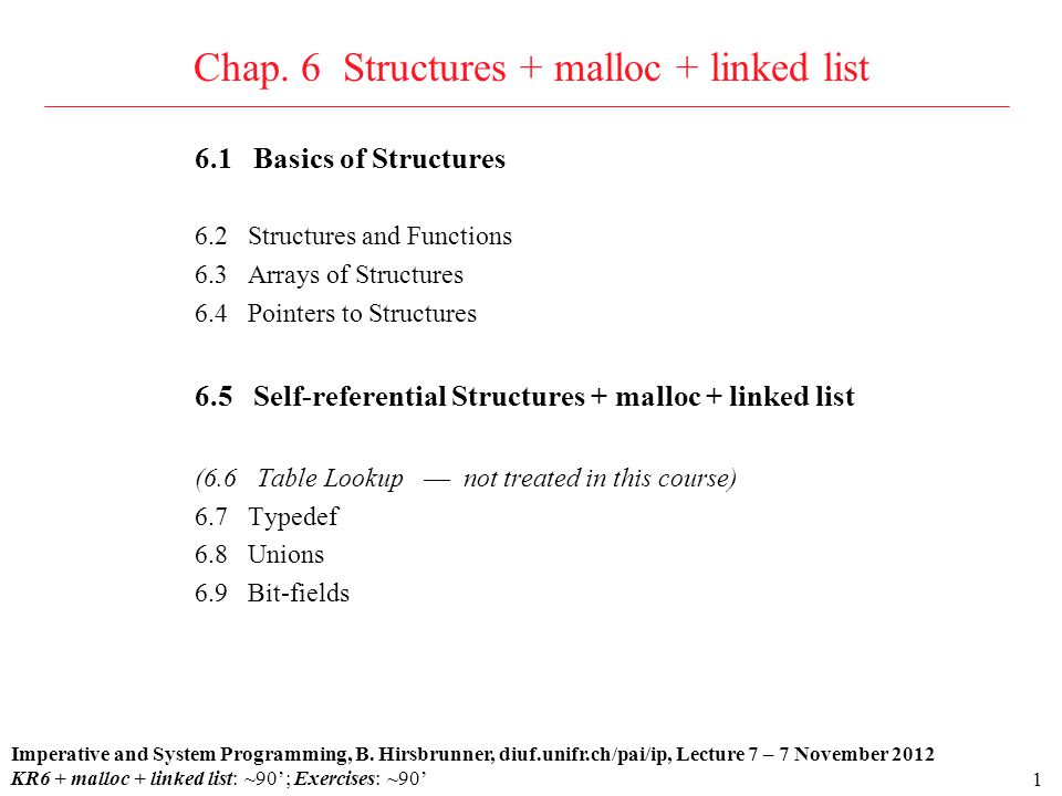 2 6.1 Basics of Structures: definition and examples Definition A structure is a collection of one or more variables, possibly of different types.