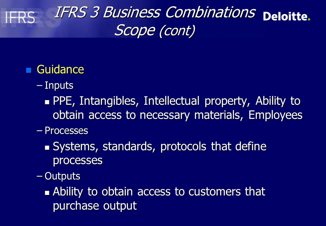 IFRS 3 Business Combinations Acquisition date n Facts –A company acquires a business.