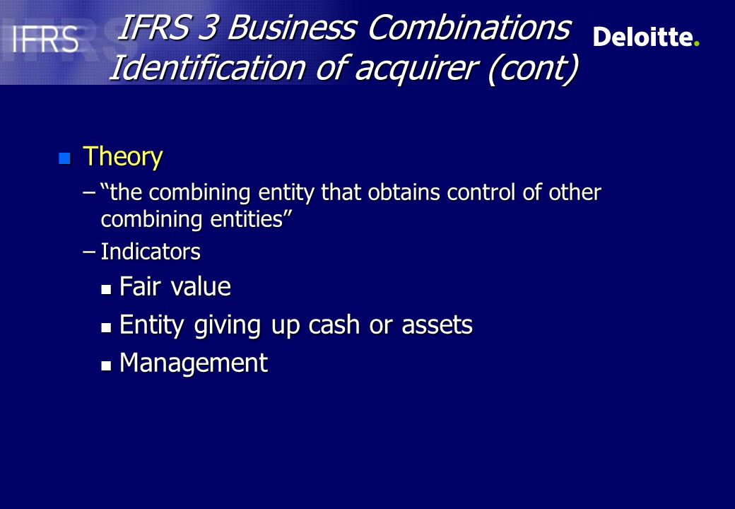IFRS 3. (IFRS 2 Link)