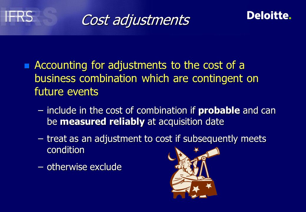 Allocating the cost Allocate cost by recognising, at fair values, identifiable assets, liabilities and contingent liabilities of acquireeAllocate cost by recognising, at fair values, identifiable assets, liabilities and contingent liabilities of acquiree Goodwill =Goodwill = Cost of acquisition - Total of net assetsCost of acquisition - Total of net assets