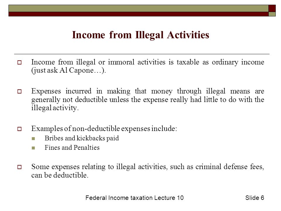 Federal Income taxation Lecture 10Slide 7 Depreciation - the Concept  When property with a limited lifespan owned by a business decreases in value, it is a loss for the company.