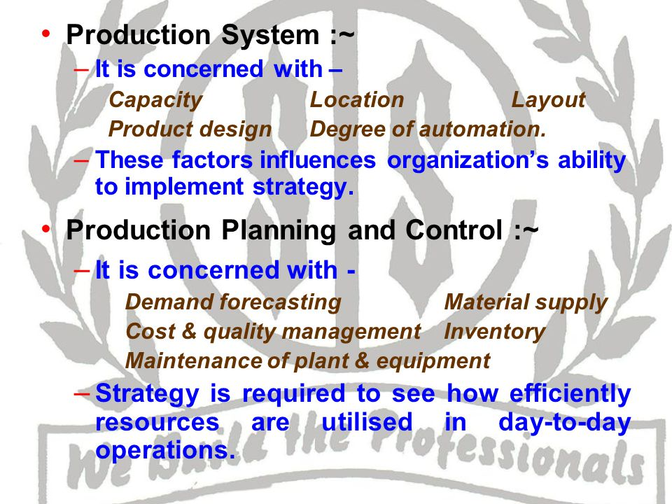Research & Development :~ – R&D helps in implementation of many corporate strategies.