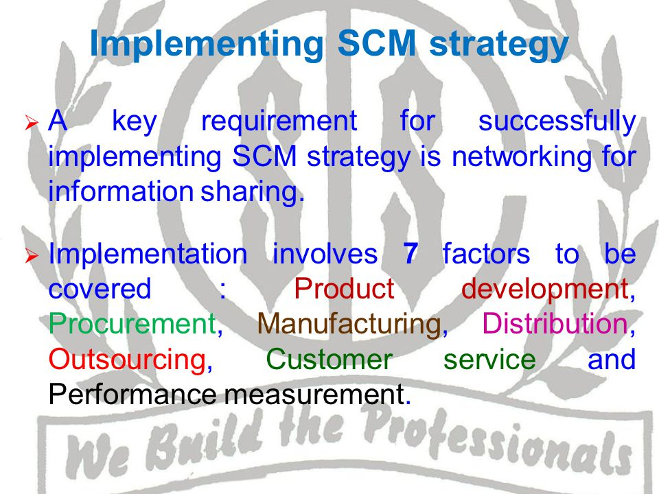 Product Development ~ SCM ensures that all partners will help in shorting Product Development Life Cycle and help Org.