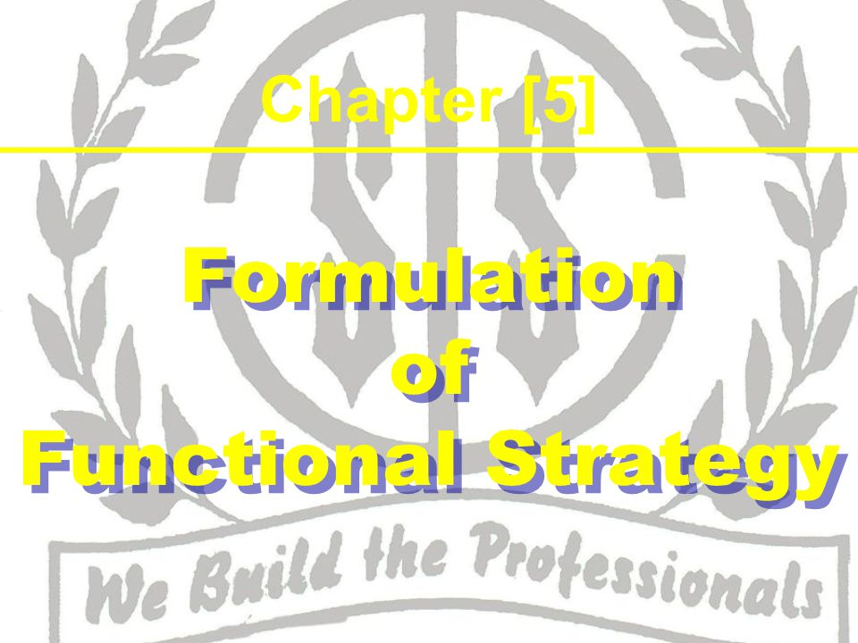 There are 3 levels of strategies ~ Corporate level strategy Business level strategy Functional level strategy Why functional strategy ~ SDs are implemented by all parts of management.