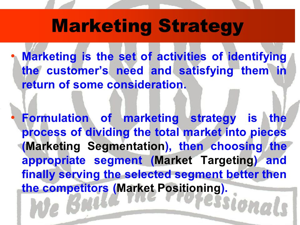 Marketing Mix ProductPricePlacePromotionPeople Physical evidence Process