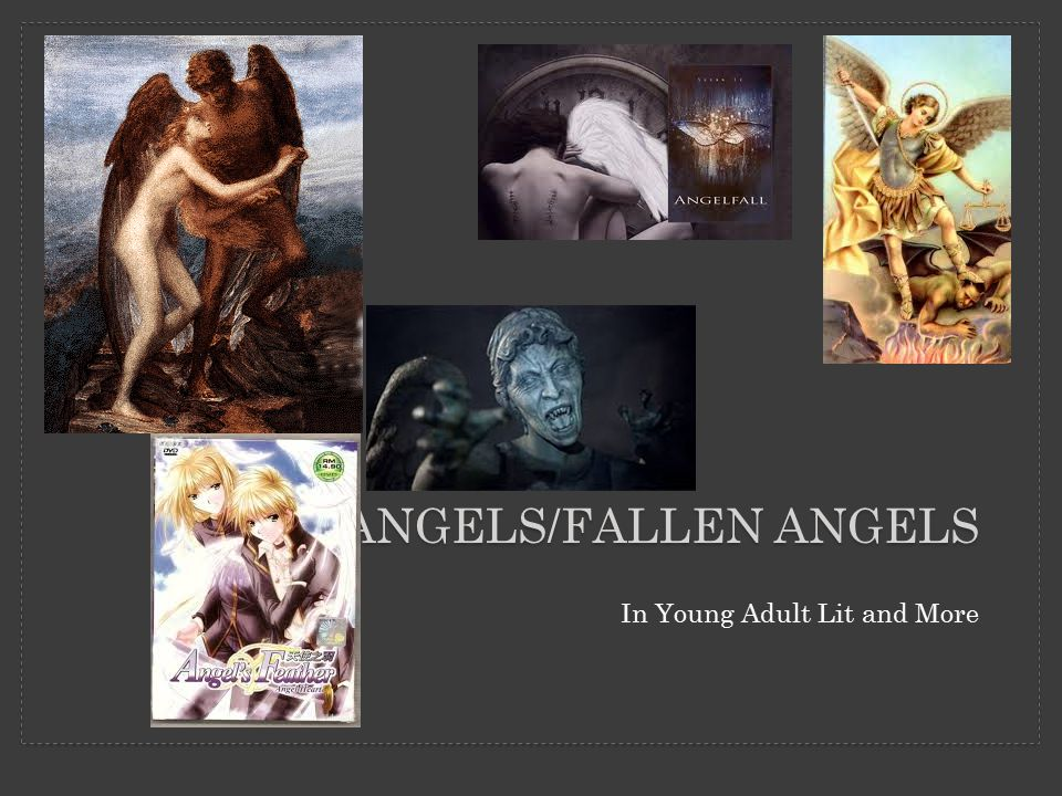 TYPES OF ANGELS The first thing angels say is fear not, suggesting that they're quite terrifying.
