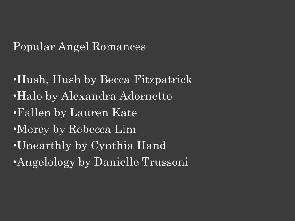 Laini Taylor's Daughter of Smoke and Bone is a groundbreaking angel series.