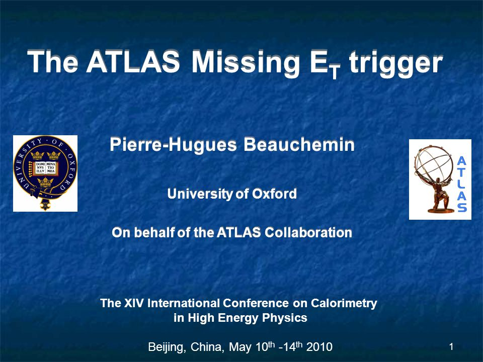 2 Outline Motivation of a Missing E T trigger Overview of the ATLAS Missing E T at Level 1 Overview of the ATLAS HLT Missing E T algorithms Results from 7 TeV ATLAS data Online to offline comparison Data to MC comparison Missing E T trigger and ATLAS commissioning Summary and future plans