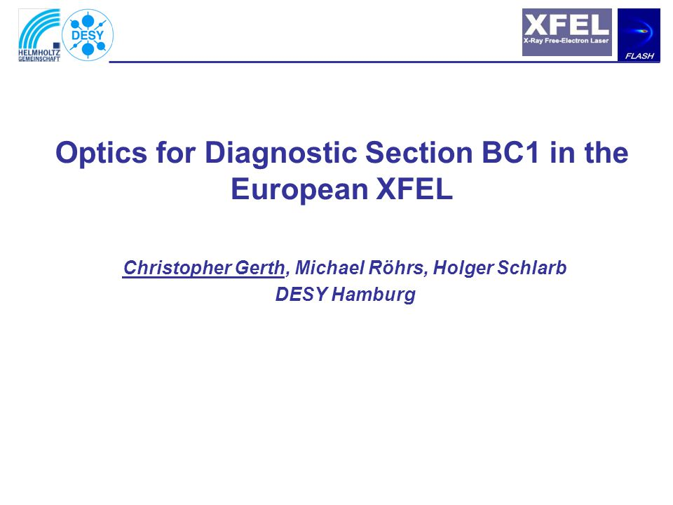 Outline –Overview –Optimisation for slice emittance measurements –Lattice layout –BC1 Spectrometer/Dump section –Outlook / Questions Sneak preview for XFEL Lattice Review (Nov 2006) - Are we on the right track.