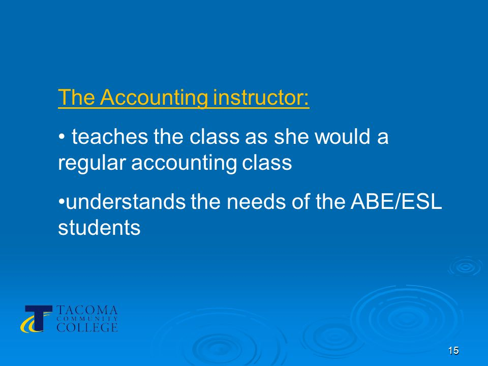 16 The basic skills instructor: monitors assists clarifies notes issues participates with minimum interference