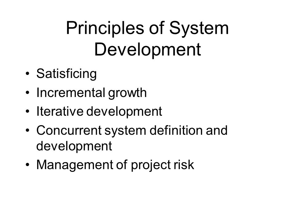 Life cycle phases Exploration Valuation Architecting Development Operation