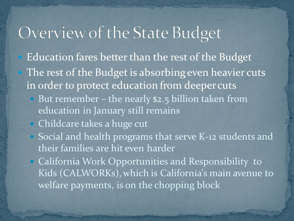 For the most part, the May Revision contains no further cuts to K-12 education.