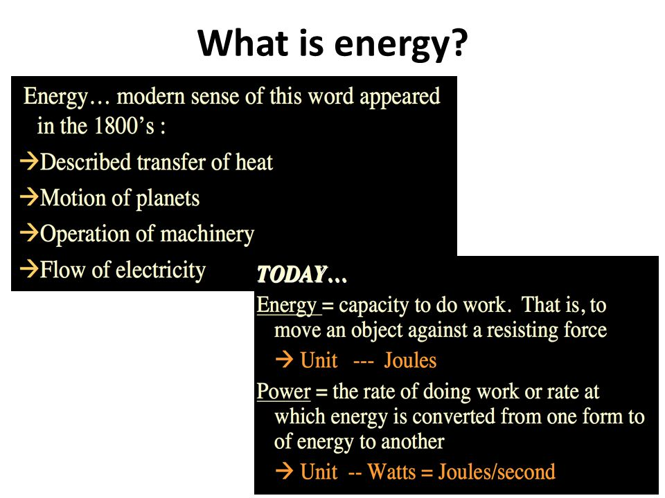 Some of the known sources of energy