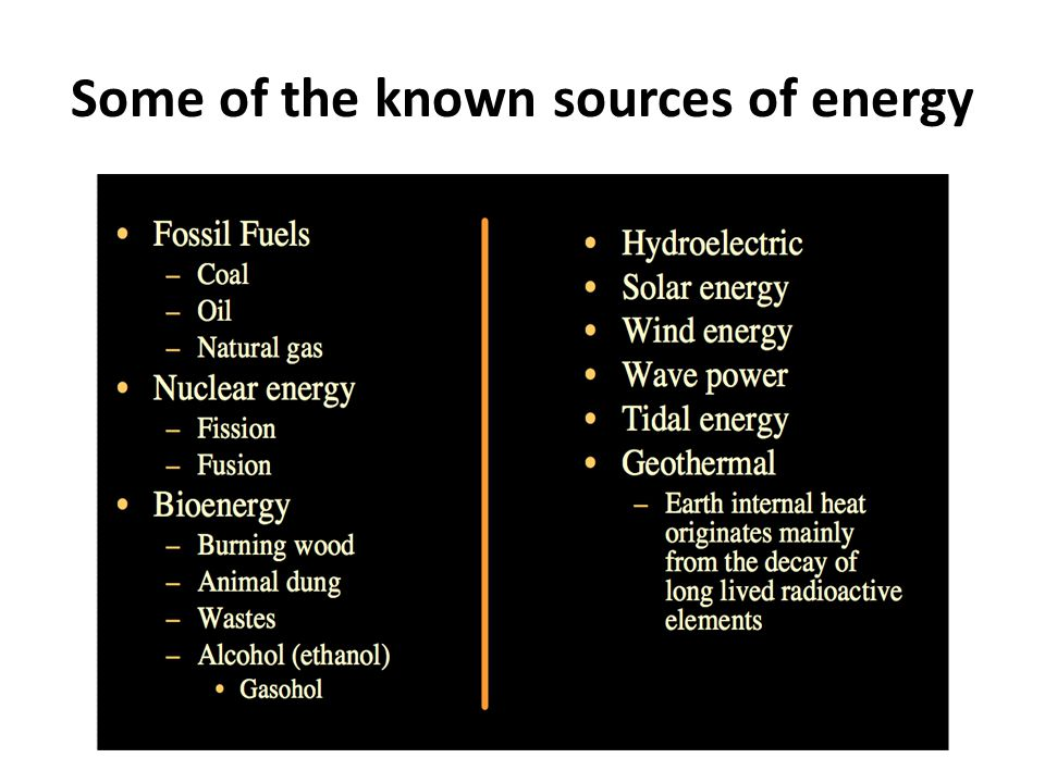 More important… What is energy sustainability?