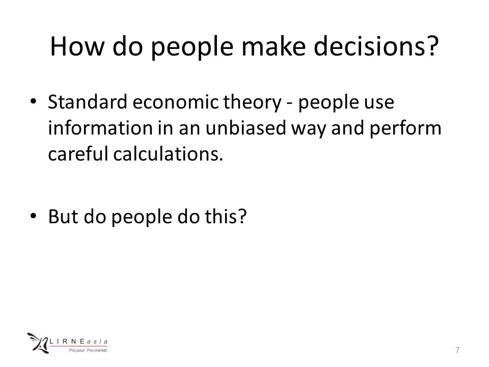 How do people make decisions? 8