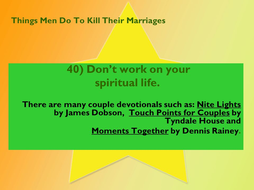 Things Women Do To Kill Their Marriages 31) I say disrespectful things to my husband whenever I want to.