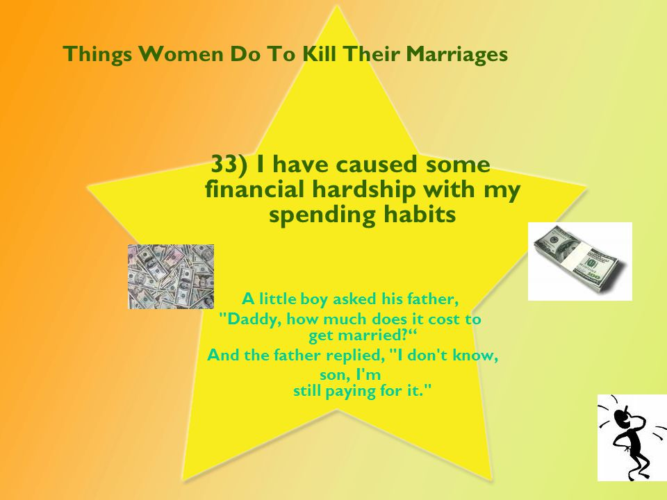 Things Women Do To Kill Their Marriages 34) I avoid bedtime with my husband by keeping busy around the house.