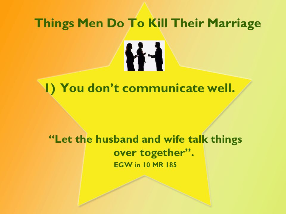 Things Men Do To Kill Their Marriage 2)Ignoring your wife.