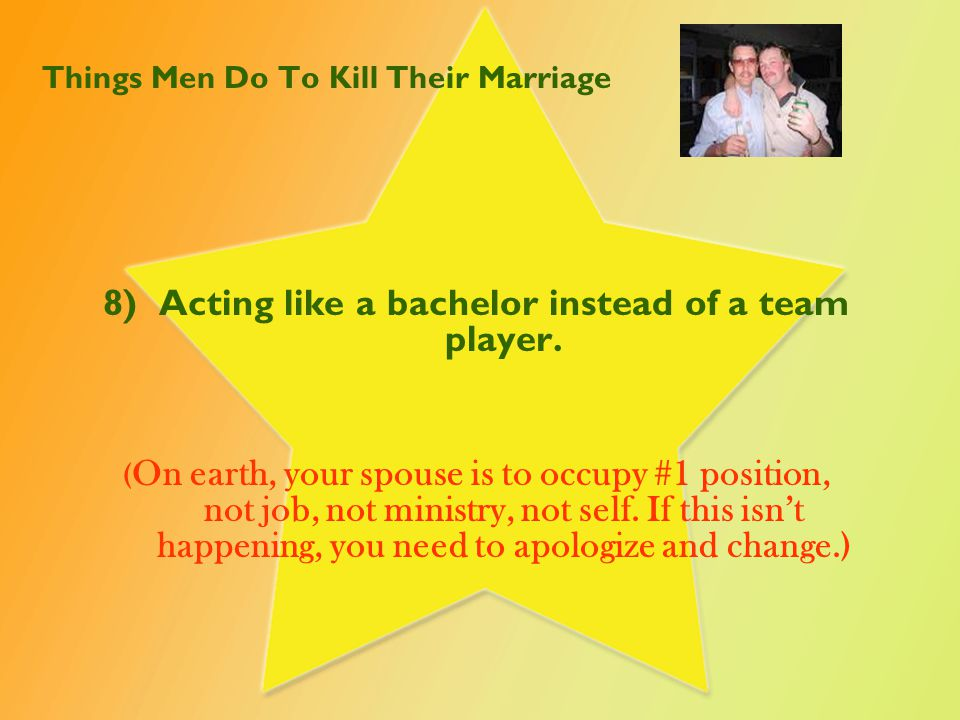Things Men Do To Kill Their Marriage 9)Not complimenting your wife's clothes, hair, personality, etc.